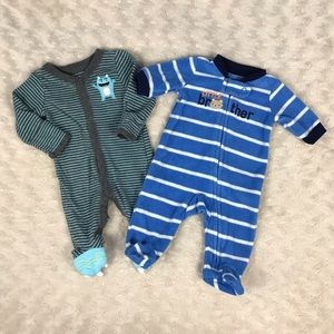Preemie Baby Boy Sleeper Bundle Little Brother